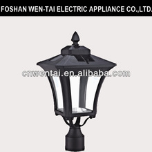 high quality solar lantern exterior garden lighting pillar