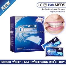 2014 new promotional dental care, mint flavor tooth whitening strips