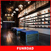 Nike men shoes display on wooden shelving in shoes flagship from china manufacturer