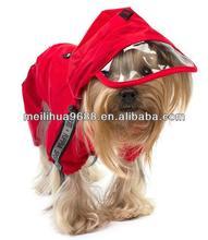 Red Fashion Breathable Waterproof Hoods Dog Raincoat