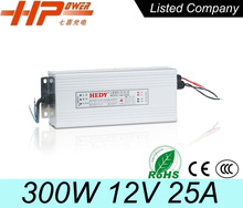 Best quality factory sell CE RoHS constant voltage single output waterproof switching 300w 25a 12v led driver power supply smps