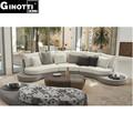 dongguan sofá de móveis de luxo gps1019 rodada sofás de canto