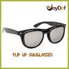 2014 Latest Popular Black Plastic Flip Up Sunglasses Flip Up Sport Sun glasses