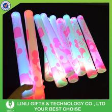 2015 Hot Sales Customized Logo Party LED Foam Stick, Led Flashing Foam Stick, Light Up Foam Stick