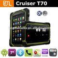 7 pouces tablet pc robuste t70h ip67 quad core android. 4.2 imperméable à l'eau avec 3g gps bt émuler rfid