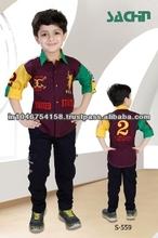 New Style Boys Shirt with Pant / Dress Set