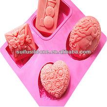 Fda standart silikon sabun kalıbı, silikon kalıp sabun