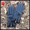 Ladies Zipper Design Autumn Winter Leather Gloves
