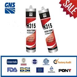 High modulus adhesive silicone heat resistant sealant