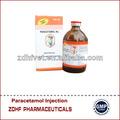 Inyectable paracetamol / paracetamol inyección para animales razas