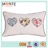 Rectangle head rest car seat cover patchwork heart cushion