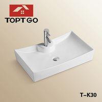 Contemporary Ceramic Wash Basin Counter Design Toilet Hand Wash Basins T-K30
