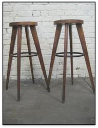 Industrial Wood bar stool, Vintage Wood Bar Stool, Teak & Cheap Wood Bar stool