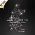 Bulldog francés cristal del rhinestone de hotfix ropa de transferencia de strass