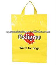 High quality flexi loop handle plastic bag for shopping