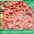 Copos de color rojo 60 % min de sulfuro de sodio 1500 ppm