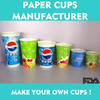 Soda cold drinks double PE coated paper cup