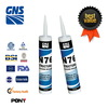 black glass and metal silicone sealant