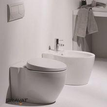 bathroom ceramic wall-hung toilet Swiss Geberit Soft Closing