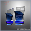 Glass color crystal awards and trophies