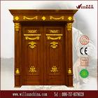Double luxury wooden doors entry door foor villa