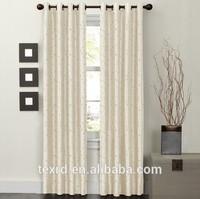 Wujiang Factory Price Ready Made Curtain, Faux Silk Taffeta Curtain ,Embroidered Curtain