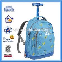 Fashion wholesale children school bag, kids school bag with wheels