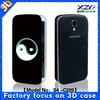 3D wallet pu leather mobile phone cases for samsung s4 case