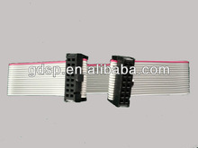 computer wiring harness 1.27mm IDC 20PIN+17CM FLAT CABLE/IDC RIBBON CABLE CONNECTOR MANUFACTURE/UL2651 FLAT IDC CABLE