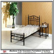 kids modern single beds cheap metal china export black furniture