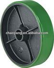 PU / rubber / nylon steer caster wheel for pallet truck /trolley 2T, 2.5T, 3T