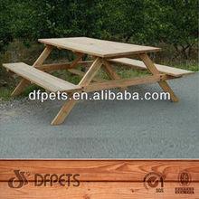 Exterior barato de madera mesa y sillas de exterior DFG-7014