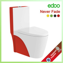 YD865 2014 Chaozhou ceramic red colorful toilet washdown One piece/S-trap :250/300mm