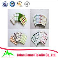 kitchen textile plain white cotton tea towel wholesale (many designs for choose)
