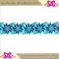 Diseño de la fábrica azul tres- dimensiones de la moda vestido bordado apliques de encaje