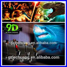Indoor amusement 9D cinema simulator for shopping mall