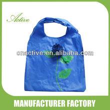 190T Polyester Flower Shaped Foldable Shopping Rose Bag