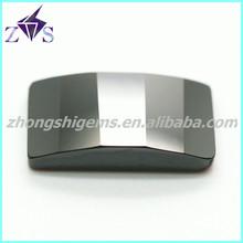 Latest Rectangle Black Zircon Loose Gemstone for Promotion