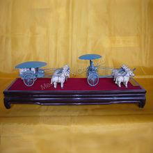 High imitation bronze chariots sculpture