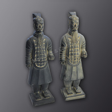 Chinese bronze antique warriors statues