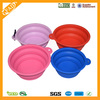 Eco-friendly Food Grade Folding Colorful Silicone collapsible Pet Bowl