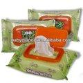 soins de la peau humide lingettes pour bébé avec couvercle en plastique