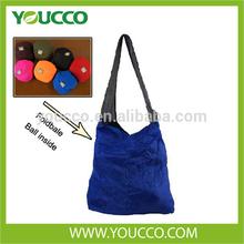 Flexible Ball Shaped Foldable Nylon Shopping Bag