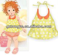 Print halter dress for baby girls
