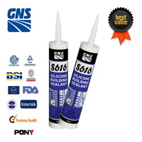 New silicone gray neutral silicone sealant in clear color