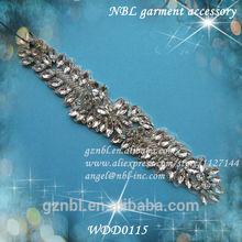 wedding rhinestone applique bridal WDD0115