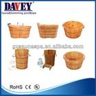 new 2014 wholesale wooden barrel bath tub/wooden bath barrel/foot bath barrel