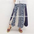 verano playa larga usar algodón impreso el último diseño de falda larga