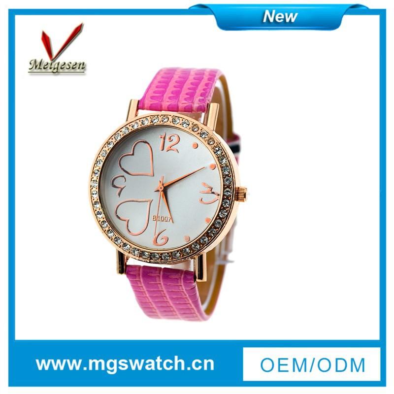 2014แฟชั่นที่มีคุณภาพดีทนน้ำนาฬิกาผู้หญิง