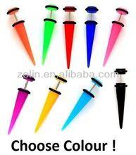 Wholesale ear jewelry acrylic fresh color cheap ear plug fake acrylic ear taper